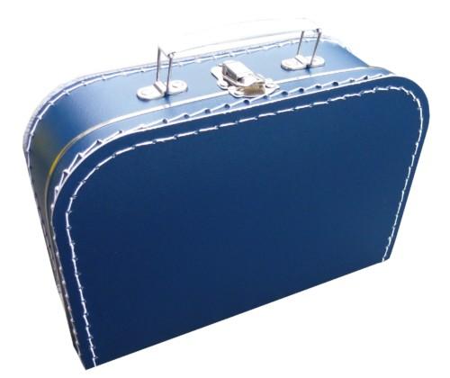 Donkerblauw koffertje met naam en/of afbeelding