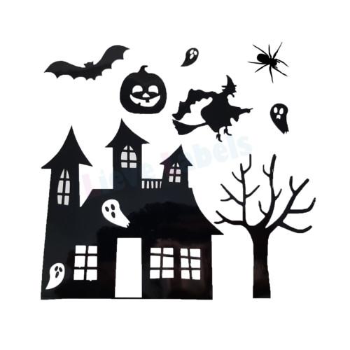 Herbruikbare statische raamstickers - Halloween