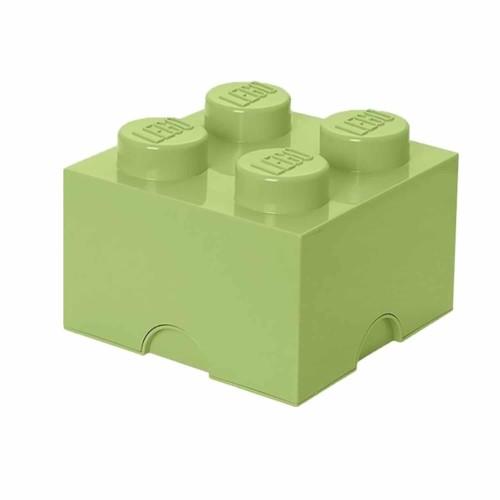 LEGO Opbergbox Brick 4 - Lentegroen