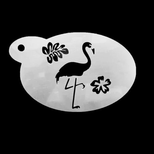 Schmink sjabloon - Flamingo